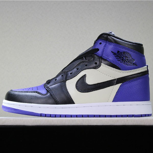 喬丹1代 Air Jordan 1 Court Purple 喬1黑紫腳趾男女款