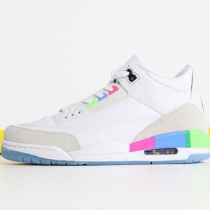 c23b3b848455fbe3 300x300 - Air Jordan 3  Quai 54 AT9195-111 喬3白彩虹男款