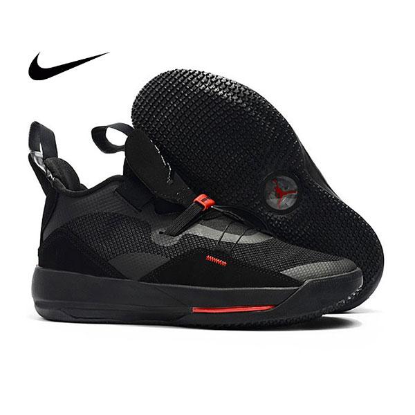 Air Jordan XXXIII 喬丹33代 男子高筒籃球鞋 全黑色 無鞋帶 熱銷推薦❤️