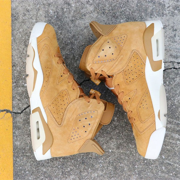 d728fe7ee6cff9c4 - Air Jordan 6 Wheat  384664-705 喬6麂皮小麥色男款