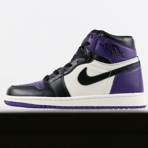 e5b55cb0541383ab 300x300 - Air Jordan 1  Court Purple 555088-501 喬1黑紫腳趾男款