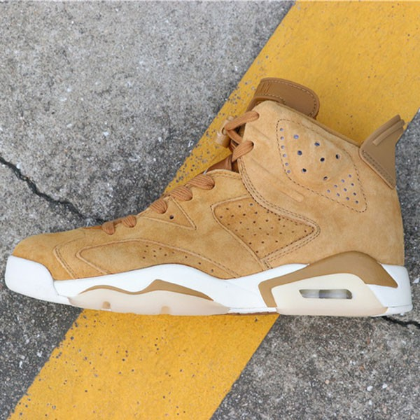 f5d485cf31fa8485 - Air Jordan 6 Wheat  384664-705 喬6麂皮小麥色男款