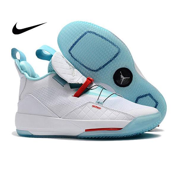 Air Jordan XXXIII 喬登33代 男子籃球鞋 白綠色 耐磨 品質嚴選 時尚 新品❤️