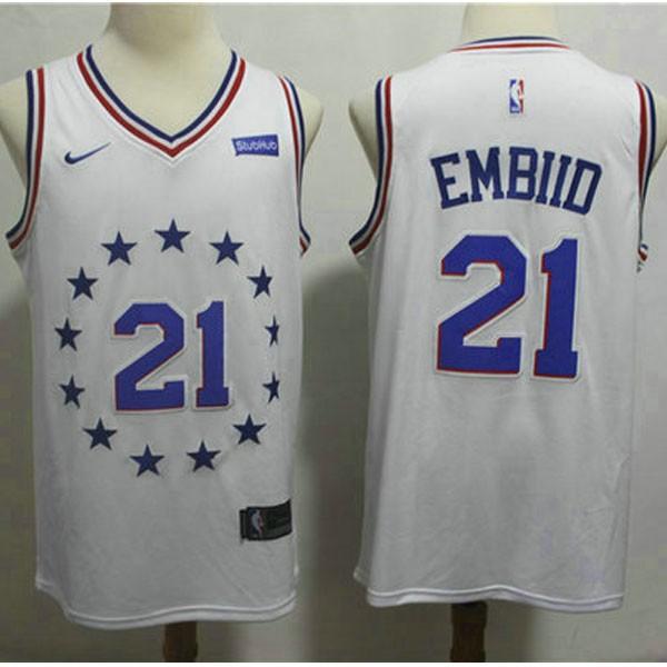 Nike NBA球衣 76人21城市白