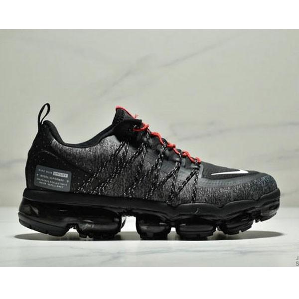 Nike Air Vapormax Flyknit 全掌大气垫减震慢跑鞋 男款 黑白紅
