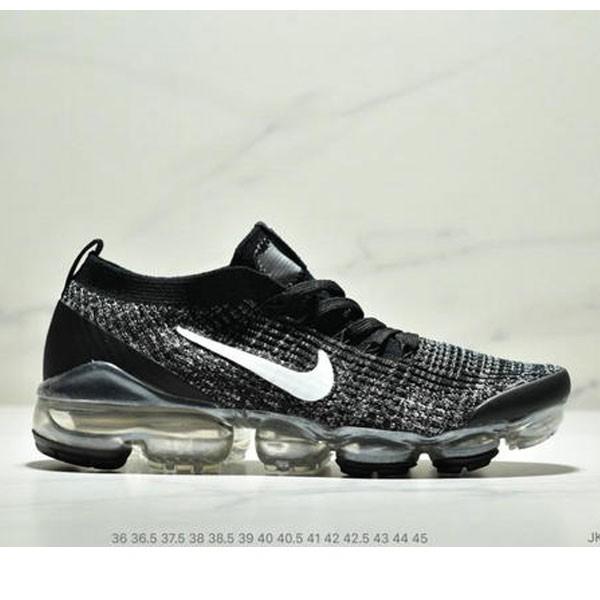 Nike Air VaporMax Flyknit 3.0 針織網面透氣全掌氣墊跑步鞋 情侶款 黑白