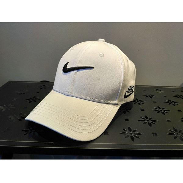 nike 帽子 夏季 棒球帽 男 百搭 鴨舌 太陽帽 運動 旅遊 遮陽帽 白色