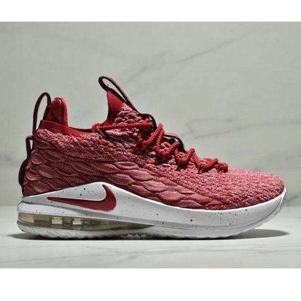 NIKE LEBRON XV LOW EP 詹姆斯15代 魚鱗片氣墊籃球鞋 男款 深紅