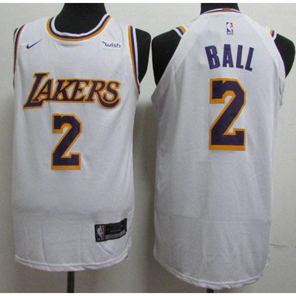 Nike NBA球衣 湖人 2號 鮑爾 白色