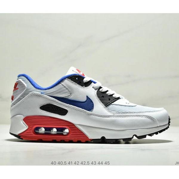 Nike Air Max90 Essential 復古氣墊百搭慢跑鞋 男款 白藍黑紅