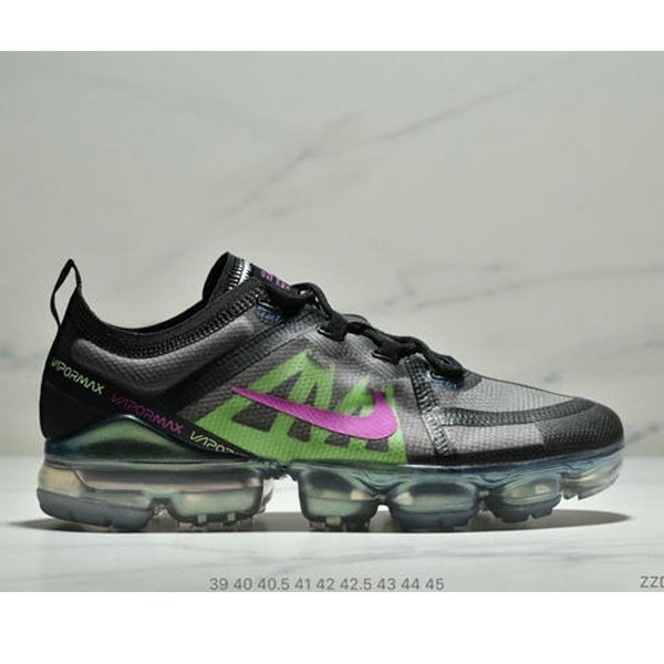 Nike Air Vapormax 2019大氣墊 網紗鞋面全掌氣墊跑步鞋 男款 黑綠桃紅