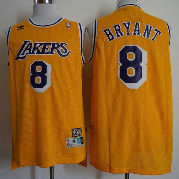 Nike NBA球衣 湖人8復古黃