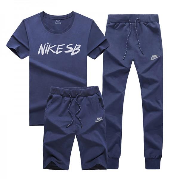 NIKE 情侶款 跑步 健身服 運動 三件套裝