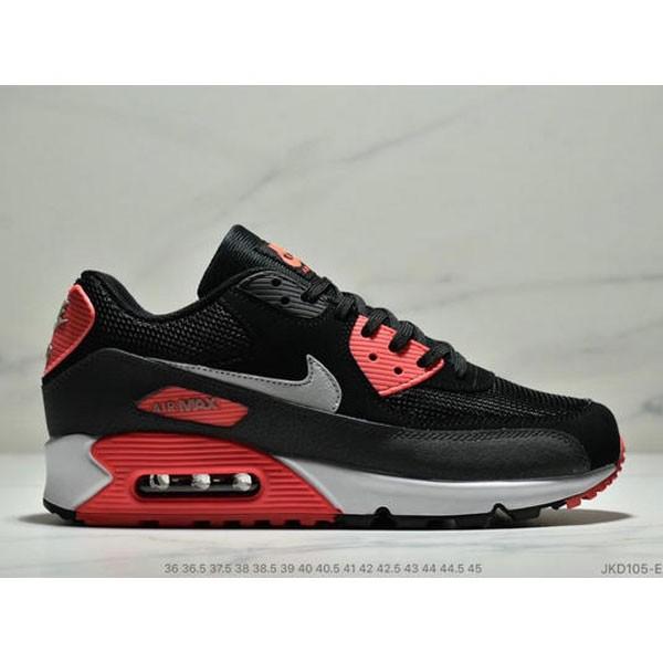 Nike Air Max 90 網面氣墊跑鞋 經典男女鞋 黑紅
