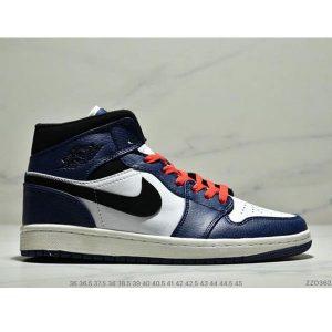 544896fa0b513d61 300x300 - NIKE Air Jordan 1 Mid AJ1中幫白藍紅小閃電 情侶款