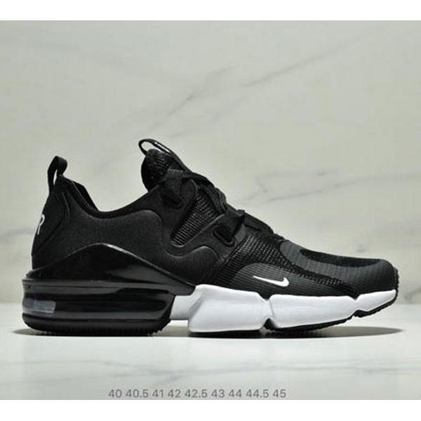 Nike Air Max 春季新款 後置半掌氣墊運動減震跑步鞋 男款 黑白