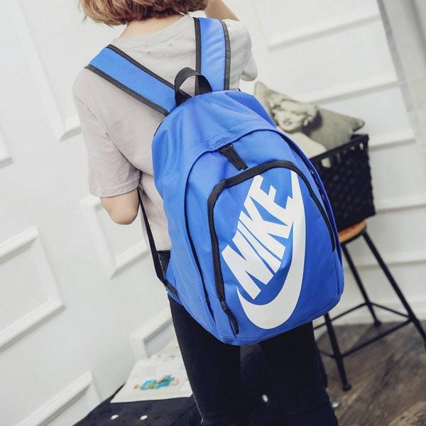 Nike 雙肩包 男女揹包 休閒運動旅行包 學生書包 電腦包NK-0809-2 藍白