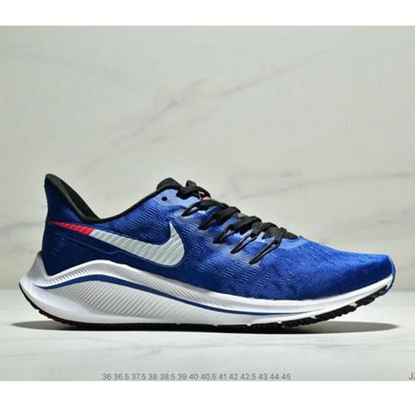 Nike Air Zoom Vomero 14代 內建4/3氣墊 馬拉鬆拉線緩震運動跑步鞋 情侶款 寶藍白黑