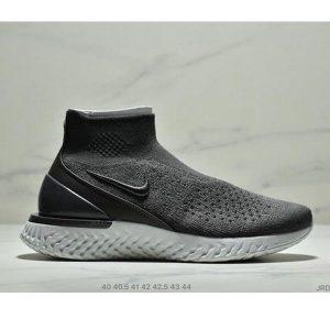 6378b9db24a0123a 300x300 - Nike Epic React Flyknit 高幫瑞亞針織 男款 灰黑