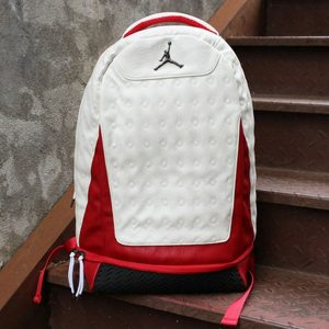 686c687c9db3a6a0 300x300 - Nike Air Jordan 同款 純色AJ雙肩揹包  白紅