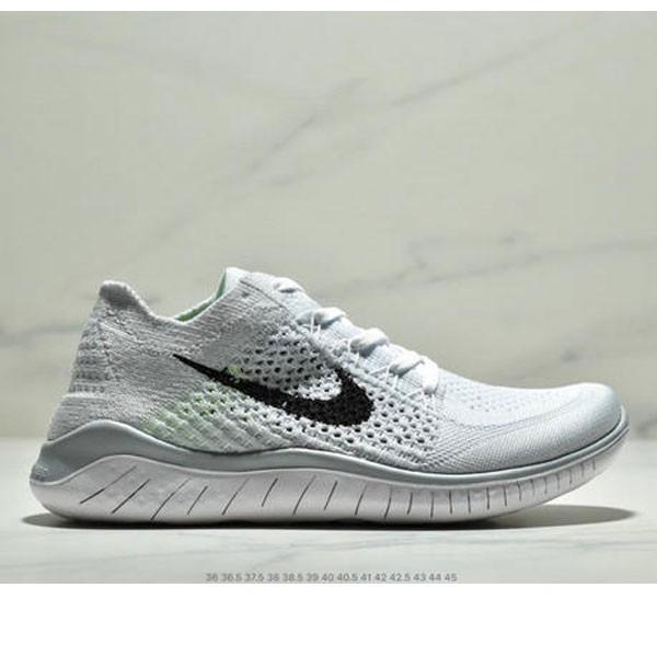 Nike Free Rn Flyknit 赤足飛線編織運動跑步鞋休閒鞋 情侶款 白黑