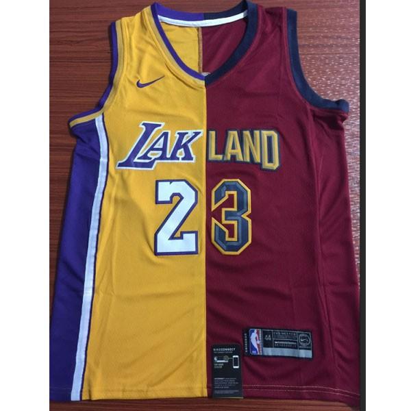 Nike NBA球衣 湖人23分裂版  如圖