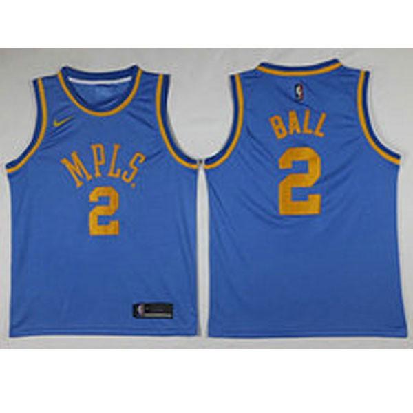 Nike NBA球衣 湖人  藍色