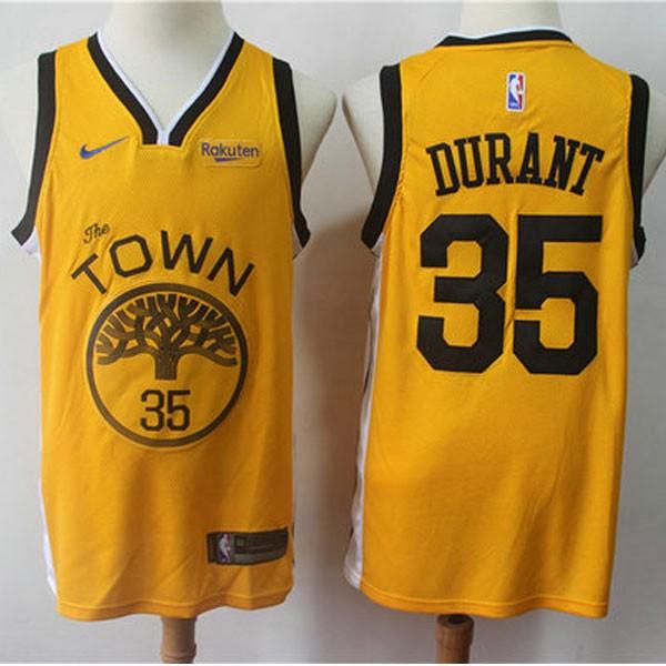 Nike NBA球衣 勇士35季後黃