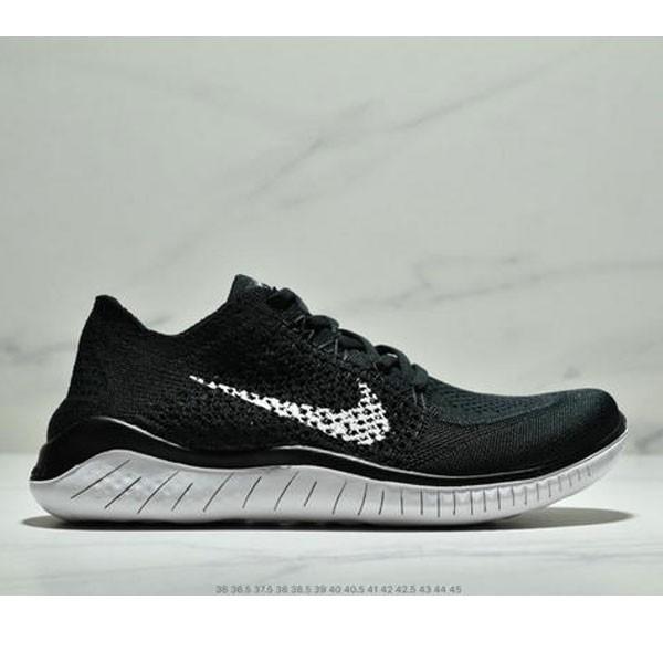 Nike Free Rn Flyknit 赤足飛線編織運動跑步鞋休閒鞋 情侶款 黑白