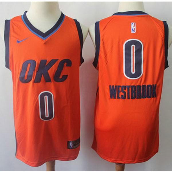 Nike NBA球衣 雷霆0橙色 獎勵版