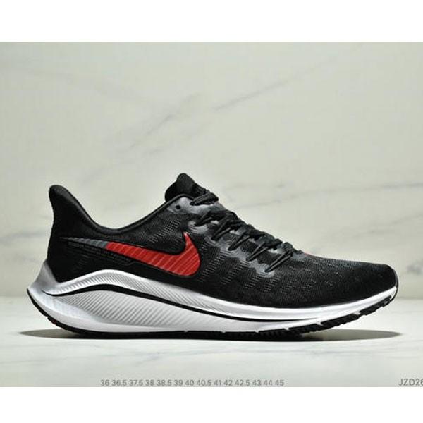 Nike Air Zoom Vomero 14代 內建4/3氣墊 馬拉鬆拉線緩震運動跑步鞋 情侶款 黑紅