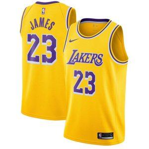 8bd75907500386af 300x300 - Nike NBA球衣 湖人23圓領黃