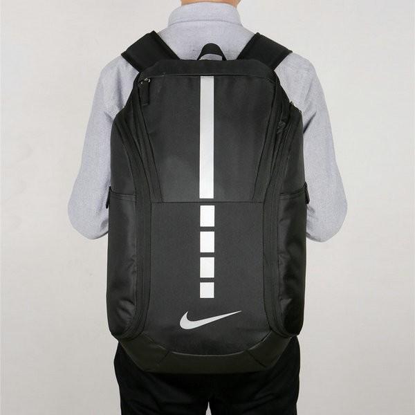 Nike 跑車設計 流線型大容量雙肩包揹包 運動健身揹包 訓練包 黑白