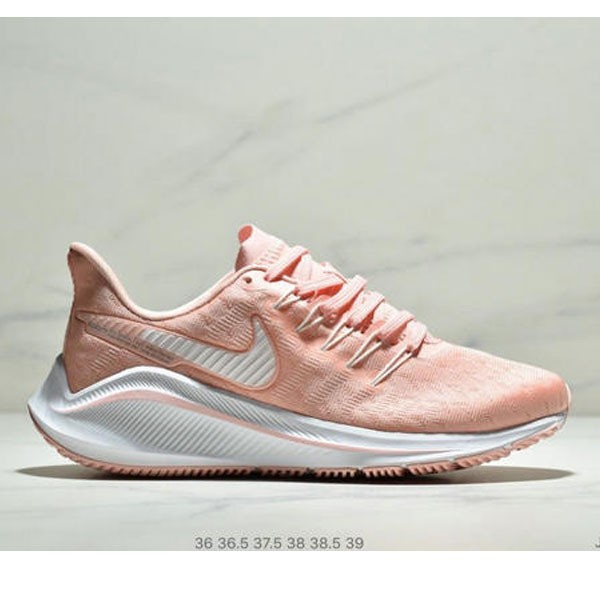 Nike Air Zoom Vomero 14代 內建4/3氣墊 馬拉鬆拉線緩震運動跑步鞋 女款 粉白