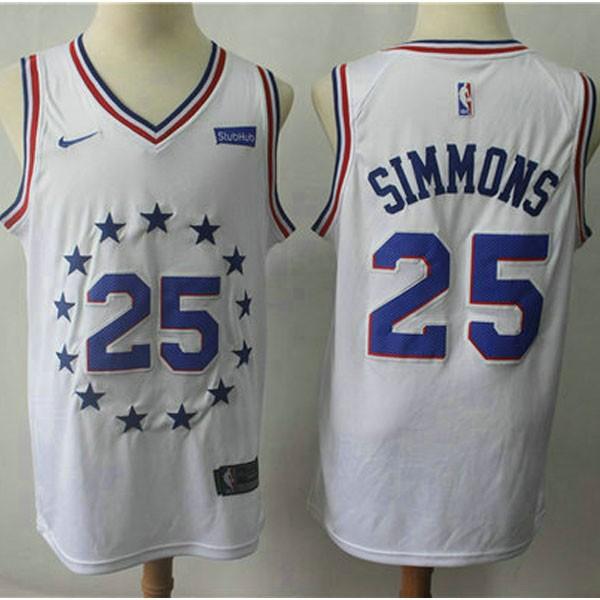 Nike NBA球衣 76人25城市白