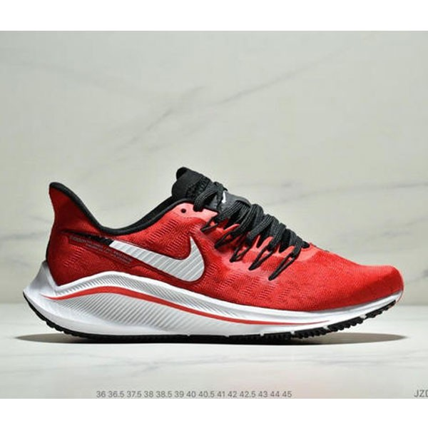 Nike Air Zoom Vomero 14代 內建4/3氣墊 馬拉鬆拉線緩震運動跑步鞋 情侶款 紅白黑