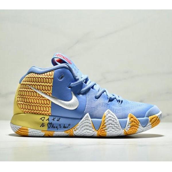 Nike Kyrie 4 Ep 歐文4代高幫運動籃球戰靴 男款 藍黃白