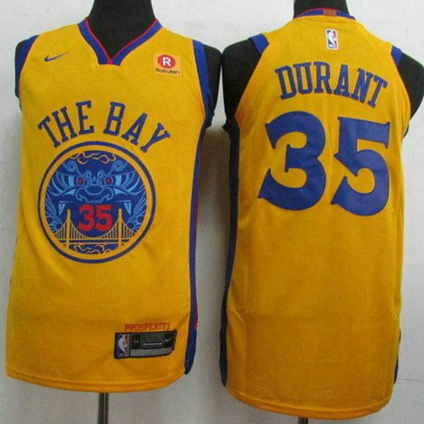Nike NBA球衣 勇士新款 黃色