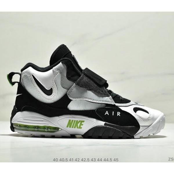 Nike Sportswear Air Max Speed Turf 加速實驗系列復古氣墊籃球鞋黑白奧利奧 男款 黑白綠