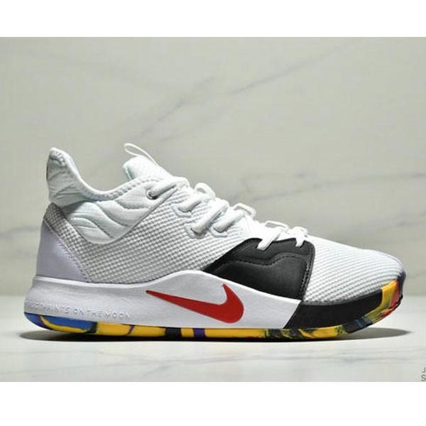Nike Pg 3 Ep 保羅喬治3代宇航員NASA聯名實戰籃球鞋 男款 白黑紅