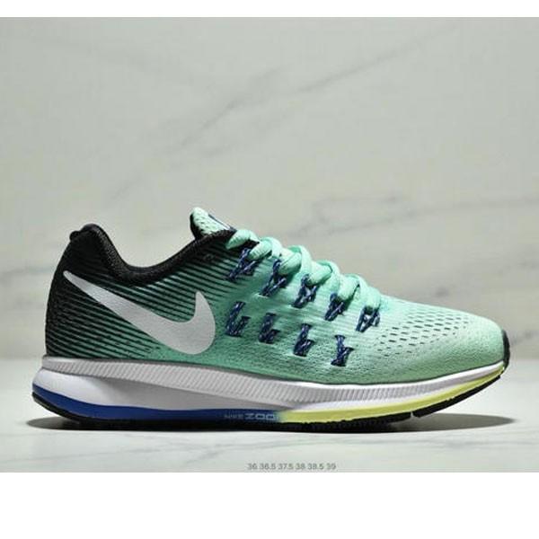 Wmns Nike Air Zoom Pegasus 33登月系列 透氣網面夏季清涼休閒慢跑鞋 女鞋 綠藍白