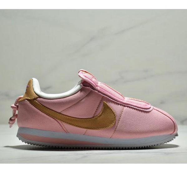 Nike Cortez Kenny IV 110E2022聯名 全新阿甘一腳蹬設計 運動休閒慢跑鞋 女鞋 粉黃