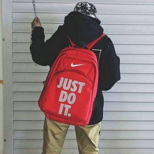 ba7b3b19b2c956d5 300x300 - Nike Just Do It 雙肩包 情侶揹包 休閒學生書包 紅色