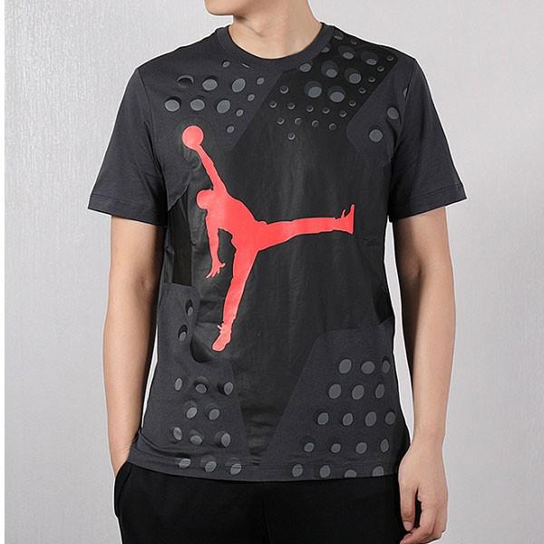 Nike 短袖男2019夏新款Air Jordan運動半袖AJ透氣T恤衫 黑紅
