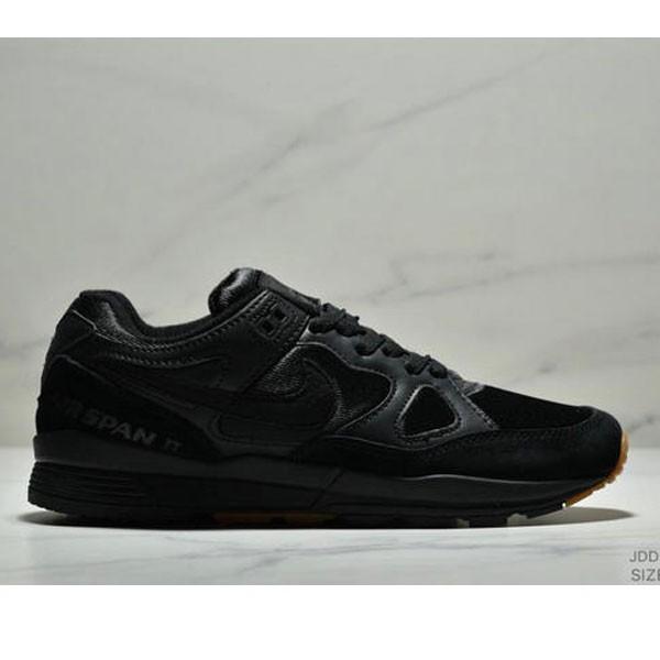 Nike Air Span II 男子新款復古緩震運動鞋 男款 黑色