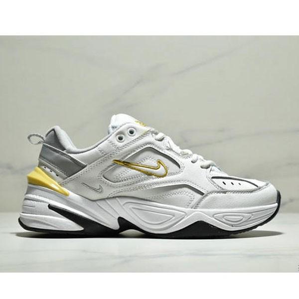 NikeM2K Tekno香蕉黃亮彩扎染復古休閒老爹鞋 男款 白黃
