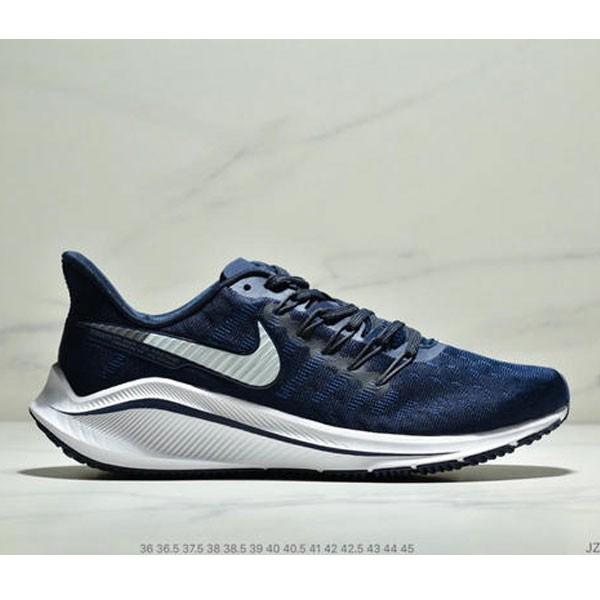 Nike Air Zoom Vomero 14代 內建4/3氣墊 馬拉鬆拉線緩震運動跑步鞋 情侶款 深藍白