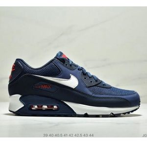 cde51b38092b5046 300x300 - Nike Air Max 90 Essential 復古休閒氣墊運動鞋 男款 深藍白紅