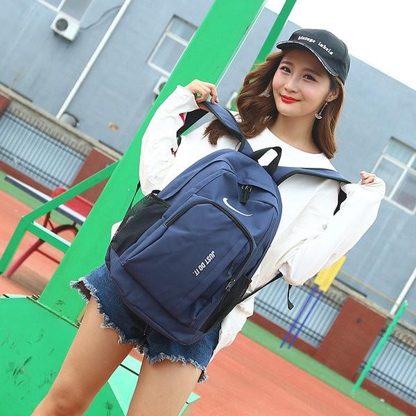 Nike Just Do It 雙肩包 學生書包 休閒揹包 NK-0090 藍色