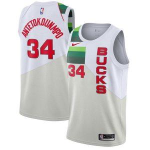 d70772df50624c22 300x300 - Nike NBA球衣 季後賽獎勵版雄鹿34白